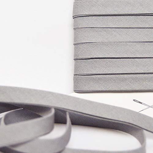 Grau Baumwoll Schrägband, sehr gute Qualität, 0.9cm Breit (Um 5 Meter)