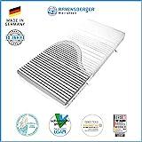 Ravensberger Matratzen 7-Zonen Matratze Softwelle | HR Kaltschaummatratze H1 RG 45 (0-45 kg) | MADE IN GERMANY - 10 JAHRE GARANTIE | ÖKO-TEX 100 Bezug Medicore-Silverline 90x200 cm