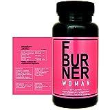 F BURNER WOMAN - Abnehmen für Sie - Fatburner mit Garcinia Cambogia, Acetyl-L-Carnitin, Grüner Tee Extrakt, Grüner Kaffee Extrakt, L-Carnitin und Vitamin B2, Hergestellt in Deutschland