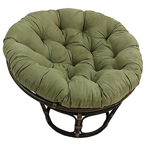 Indoor Papasansessel Stuhl Auflage,48'x 6' X 48' Baumwolle Gerundet Getuftet Übergroßen Stuhl-pad Boden-Kissen Dick Volltonfarbe Für Hängematte -grün Diameter120cm(47inch)