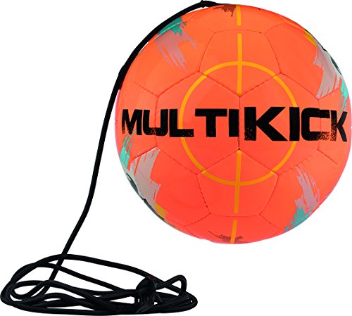 Derbystar Multikick Pro Mini Fussball, Orange Gelb, 47 cm