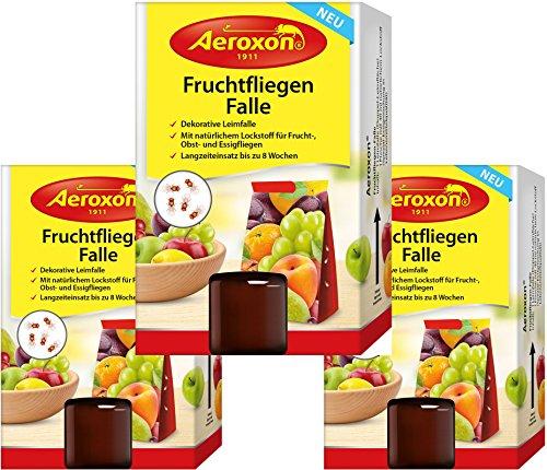 Aeroxon - Fruchtfliegenfalle - 3 Stück