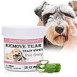 SEGMINISMART Augen-Reinigungspads für Hunde und Katzen 100 Stück, Milde Augen-Reinigung ohne zu Reizen, Entfernt sanft Tränenstein und Speichel-Reste