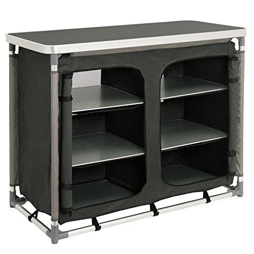 CampFeuer - Campingschrank, Campingküche mit Aluminiumgestell, ca. (L) 102 cm x (B) 47 cm x (H) 82 cm