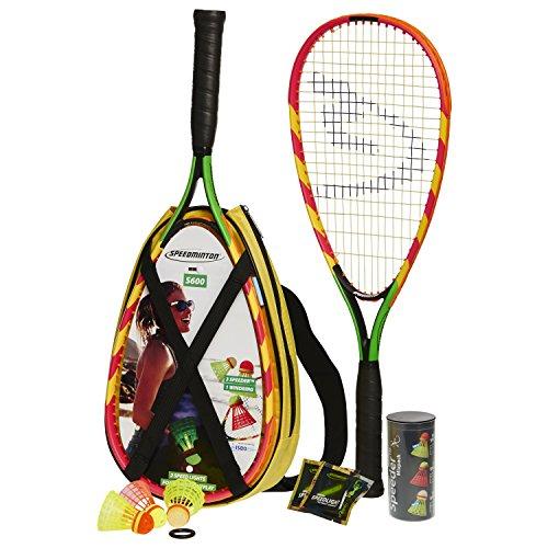 Speedminton S600 Set – Original Speed Badminton/Crossminton Einsteiger Set inkl. 3 Speeder, Speedlights, Tasche