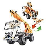 RCTecnic LKW Truck Kranich Fernbedienung zu montieren 2 in 1 | Autos Lastwagen RC Elektrische Funksteuerung mit Batterie | Kran von Spielzeug für Kinder