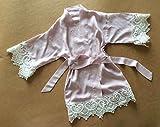 licht violett mädchen gewand - baby bademantel mit spitzen schneiden blumenmädchen gewand blumenmädchen geschenk babyparty geschenk rayon stoff