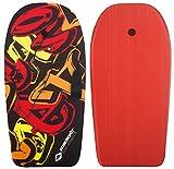 Schildkröt Funsports Bodyboard Schwimmbrett Surfboard 92cm Grösse L mit Halteleine, 970215