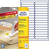 AVERY Zweckform L6031REV-25 Etiketten (A4, 800 Plus 160 Universal-Etiketten extra, ablösbar, 96 x 16,9 mm, 30 Blatt) weiß
