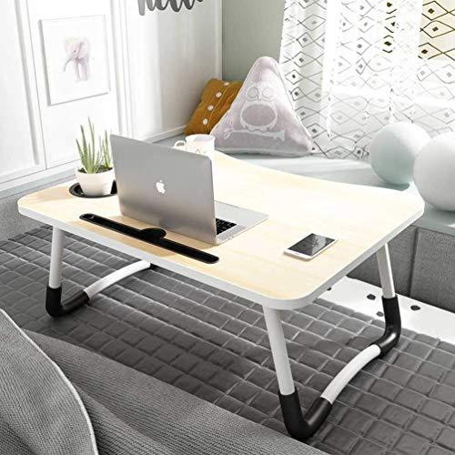 Wooden-Life Laptoptisch Laptop Betttisch Faltbar Lapdesk Notebook Lese Tisch Stabiler Tragbarer Laptopständer für Frühstücks, Notebook, Bücher, Minitable, Bett Tablett 60 * 40cm