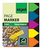 SIGEL HN613 Haftmarker Pfeile, 200 Mini-Streifen im Format 12 x 45 mm, 5 Farben