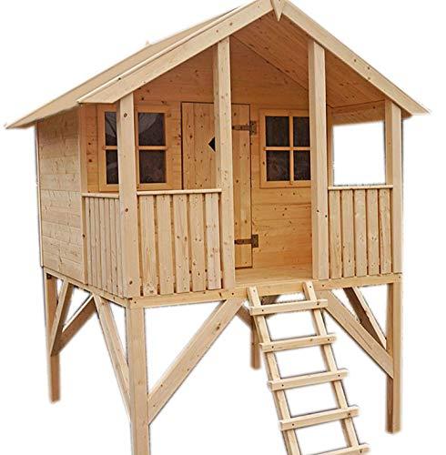 Terrasse2000 Kinderhaus / Spielhaus / Stelzenhaus Dominik Höhe 281 cm   Breite 198 cm   Tiefe 180 cm + FSC-Zertifikat