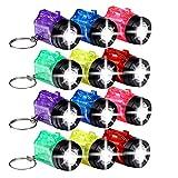 S/O 12er Pack Schlüsselanhänger Taschenlampe mit Griff Mini LED-Taschenlampe Lampe Taschenlampen Lampen Kinder Kindertaschenlampen