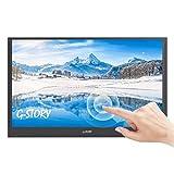 G-STORY 15,6 Zoll ultraflacher Touchscreen, FHD 1080P TN panel mobiler Monitor, NS Direktanschluss / Mini-HDMI / integrierte Lautsprecher / HDR / FreeSync / Type-C / 60 Hz
