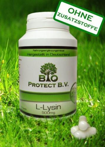 L- Lysin 500 mg - 120 Kapseln - Bio Protect OHNE ZUSATZSTOFFE
