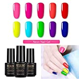 ROSALIND 10pcs Neon Nagellack Set Gel Nail Polish Gellack UV Neon Gel Für Nägel 7ML