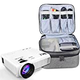 Luxja Beamertasche für QKK Mini Beamer, Tragbar Projektor Tasche für DR.Q Projektor und Zubehör (Grau)