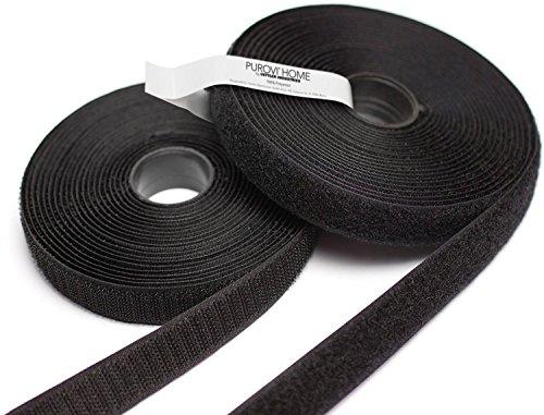 5m Klettband, Flausch & Haken, 20mm breit, zum aufnähen, schwarz