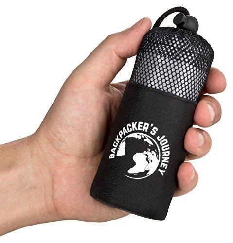 Backpacker's Journey ultrakleiner und ultraleichter (155g) Reiseschlafsack, Hüttenschlafsack leicht, dünn, Inlett aus Mikrofaser. Ideal für Backpacking, Hostels und Hütten
