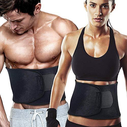 WeyTy Taille Trainer Gürtel, Verstellbarer Bauchweggürtel Fitnessgürtel Waist Trimmer für Herren und Damen zum Abnehmen und Muskelaufbau, Sport Fitness,Training,Yoga, Cycling, Boxing