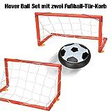 Willingood Hover Ball Set mit zwei Fußball-Tür-Korb und LED Beleuchtung  Air Power Fußball   Hover Power Ball   Hover Football Ball  für Drinnen