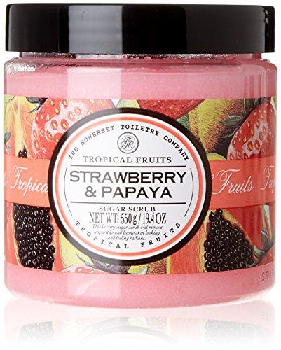 Tropical Fruits Strawberry & Papaya Single Exfoliating Body Sugar Scrub 550g