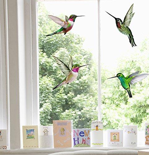 "Vogel-Fensterbilder""Kolibri"", 4-teiliges Set"