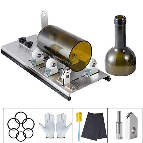 Glasschneider für Flaschen Kalawen Edelstahl Flaschenschneider Glasschneider Bottle Cutter Kit zur DIY Flaschen Pflanzmaschinen Kronleuchter aus Glas Kerzenständer