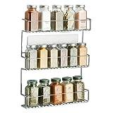 mDesign AFFIXX Gewürzregal selbstklebend - dreistöckige Gewürzaufbewahrung - praktisches Küchenregal ohne Bohren - Metall