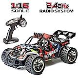 GO Stock Ferngesteuertes Auto, 1:16 Scale RC Auto Skala 2WD 2.4Ghz Rc Buggy Wiederaufladbare Rc Truck