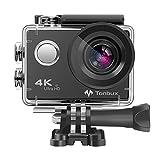 4K Action Kamera WIFI 170°Weitwinkel Helmkamera Unterwasserkamera -VON Tonbux- 4K HD / 2 'HD-Bildschirm / Wasserdicht 30M / 2x1050mAh Akku / 20 Zubehör / für Tauchen, Motorrad, Fahrrad fahren und Schwimmen