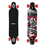 Enkeeo 40 inch Longboard - Skateboard Komplettboard Drop-Through Cruiser Board mit ABEC 11 High-Speed Kugellager