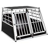 TecTake Alu Hundetransportbox -Diverse Größen- (Double Groß)