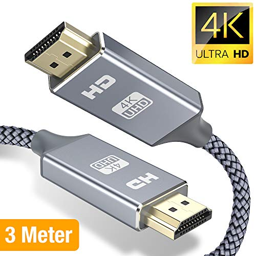 Snowkids Hdmi Kabel HDMI 2.0 a/b Highspeed mit Ethernet, 4K hdmi Kabel 2.0/1.4a, Video UHD 2160p, Ultra HD 1080p, 3D, ARC, CEC, Xbox PS3 PS4 PC