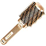 Beste Rundbürste zum Haare trocknen / föhnen, mit natürlichen Wildschweinborsten für Föhne (4.3 cm) - Haarstylingprodukt in Profi-Salonqualität für gesunde, seidig, glänzende & glattes Haar