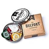 Belfort 16 hochwertige Plektren für Gitarre in edler Box  Gitarren Plektrum aus extrem robustem Celluloid  4 verschiedene Stärken: 0.46-1.20mm | BONUS: Gratis Ebook