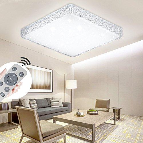 YESDA LED Kristall Deckenleuchte Sternenhimmel Starlight Eckig Deckenbeleuchtung Wohnzimmer Deckenlampe Korridor Schlafzimmer Schönes 6000K-6500K Mordern Badleuchte (48W Dimmbar)