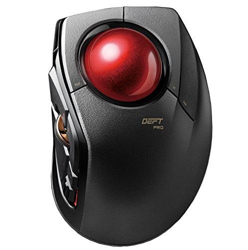ELECOM m-dpt1mrxbk Zeitgeist Pro Gaming Trackball Maus | verdrahtet, drahtlos, und Bluetooth | Hochleistungs-Ruby Ball | Advanced Ansprache, 8Map Tasten | Scrollen
