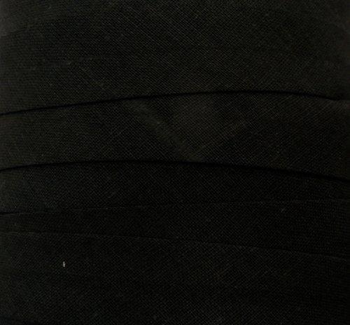 Schrägband / Textilband - Blende 'Schwarz' 20 mm / Baumwolle (10 Meter)