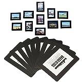 Magnetische Foto-Bilderrahmen und Kühlschrankmagnete, Taschenrahmen für Kühlschrank, weiß, schwarz, hält 4x6 3.5x5 2.5x3.5 (hält 6 '5' 3,5 'Fotos, 15 Stück)