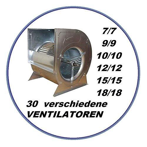 Uzman-Versand Radialgebläse 7/7 Ventilator Riemenantrieb Dunstabzugshaube Wandhaube Deckenhaube Absaugung Abluft Absauggebläse Absauganlage a lüftermotor Gastro
