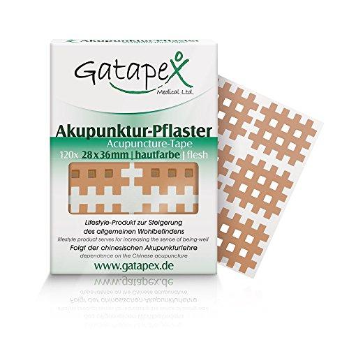 Gatapex Akupunkturpflaster Gitterform, 120 Stück, hautfarbe