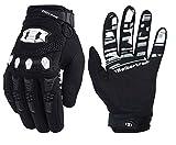 Seibertron Dirtpaw Unisex Rutschfeste Bike Bicycle Cycling/Radsport Racing Mountainbike Handschuhe für BMX MX ATV MTB Motorcycle Motocross Motorbike Road Off-Road Race Touch Screen Gloves Schwarz XS