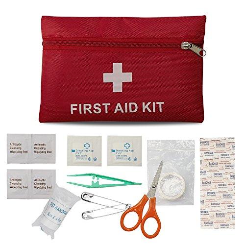 Erste-Hilfe-Set Reise Notfalltasche Wasserdicht Erste Hilfe Tasche18 Stück Mini Small First Aid Kit, Sport Verbandtasche Erste Hilfe Tasche für Haus, Fahrzeug, Reise, Büro, Arbeitsplatz, Kinderbetreuu