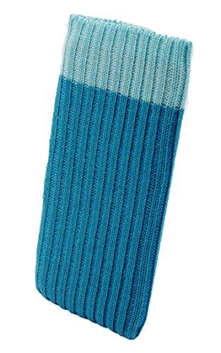 iPhone 6 / 6s / 7 Handysocke Strick-Tasche in hellblau Original smartec24 Rundumschutz dank dicker dicht gestrickter Wolle passt sich dank Strech perfekt dem jeweiligen Smartphone an