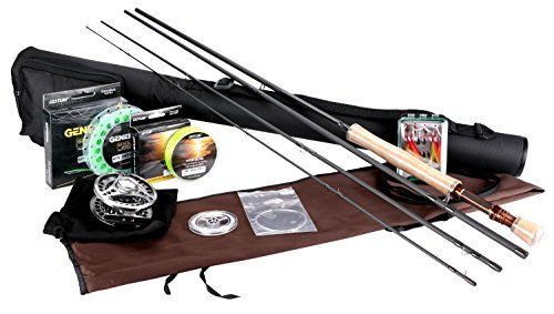 Goture Fly Angelrute und Reel Combos Fit Salzwasser Süßwasser 5/6 und 7/8 für Anfänger und Angler mit Fly Line Fliegenköder Full Kit mit Rod Case(Honor Series7/8)
