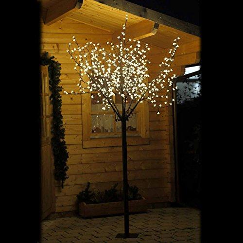Gartenpirat LED-Kirschblütenbaum 250 cm Hoch mit 600 LED Warm weiß für außen