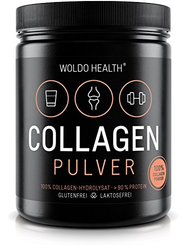 WoldoHealth I 100% reines Kollagen 500g I Hydrolysat Collagen Pulver I geschmacksneutral I leichtlöslich I Eiweiß Protein I Peptides Lift Drink