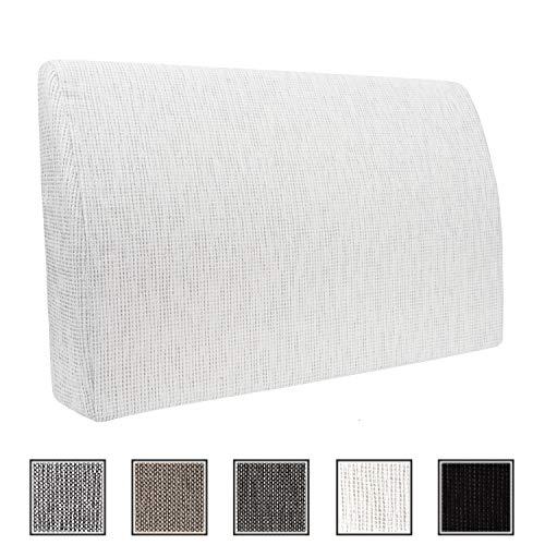Formalind Die Fantastische Rückenlehne für Bett und Sofa 70 X 45 X 15 cm // Rückenkissen zum Fernsehen und Lesen in edlem Design aus feinem Polsterstoff (weiß)