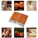 Holz Schnitzwerkzeug-Set, Kürbisschnitzwerkzeug | 12-teiliges Meißelschnitzmesser für Gummi, Kürbis, Seife, Gemüse für Heimwerker | Carving Tools Set für Kinder und Erwachsene | Dekoration